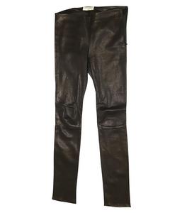 Black High Rise Skinny Leather Leggings