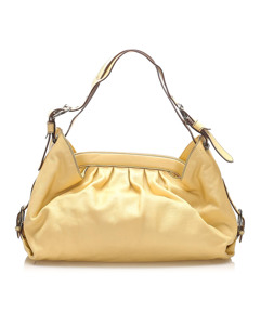 Fendi Doctor B Leather Shoulder Bag Yellow