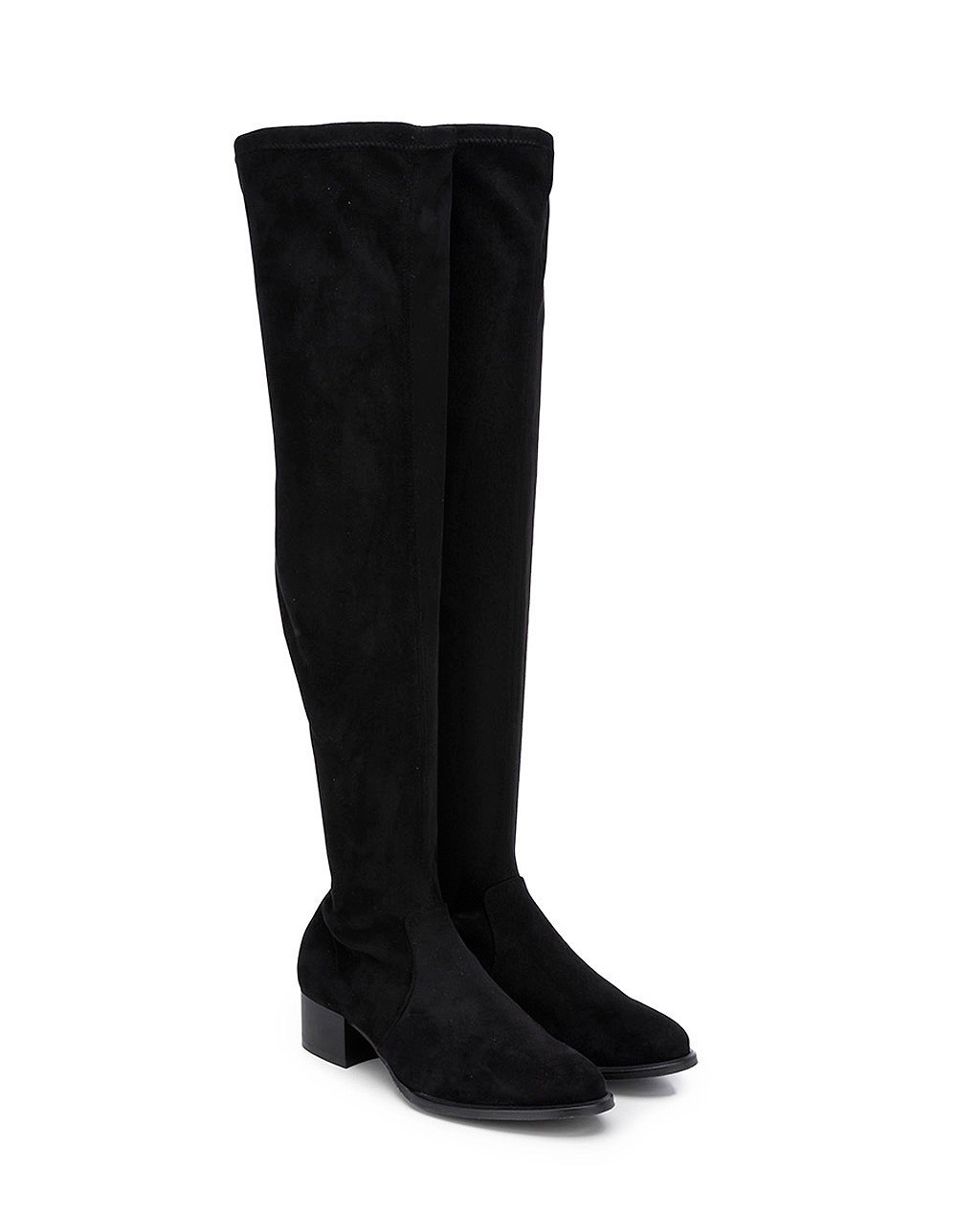 Cuple High Boots In Leather Black shop 25 70% | Gratis