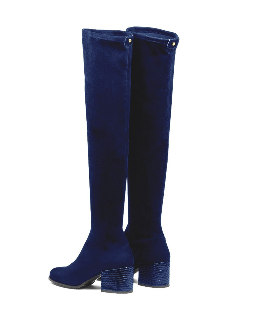 Cuple Leather High Boots Blue shop 25 70% | Gratis