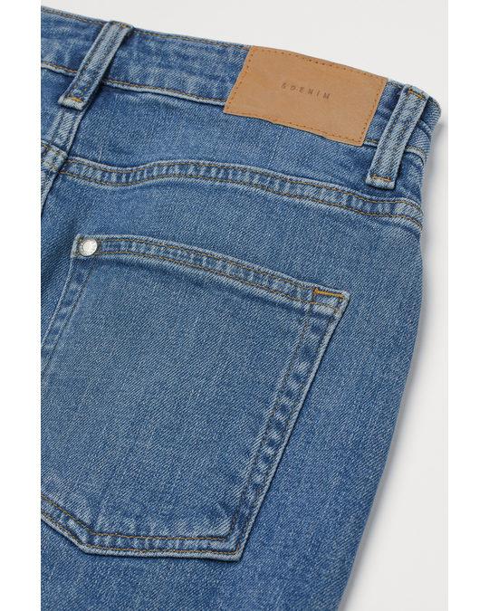 H&M Denim Skirt Denim Blue