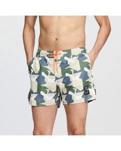 The Mauler Camo Swim Shorts Green