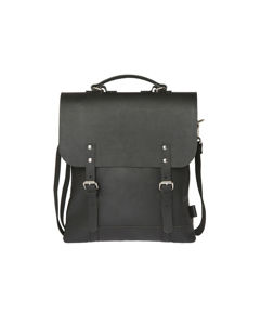 Messenger Tote Mini All Leather Black