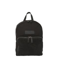 Hornstulls Backpack Mini Black Canvas/black Suede Pocket/black Leather