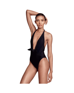 Bondi Born - Swimsuit 1 Piece V-neck - Black