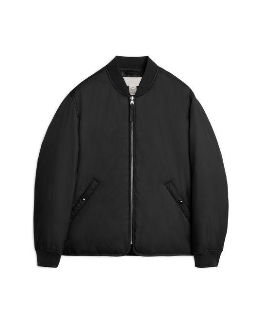 Arket Nylon Liner Jacket Black