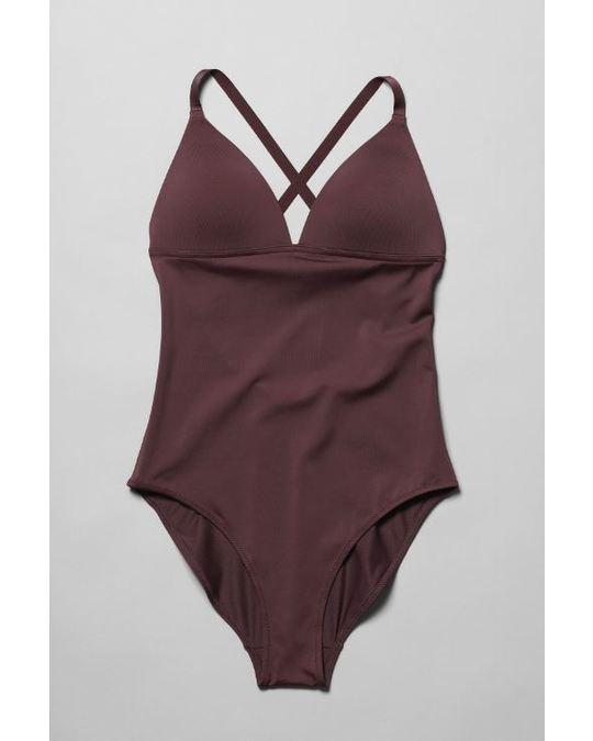 Weekday Gaze Swimsuit Red