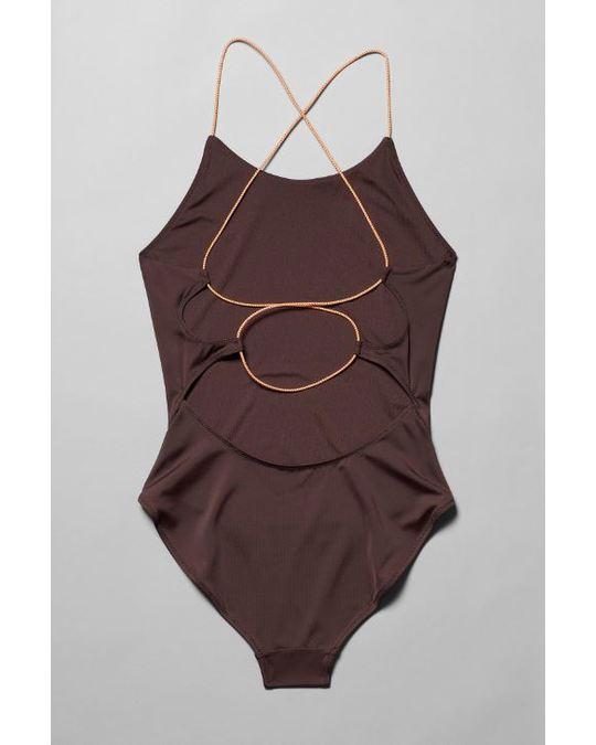 Weekday Aqua Swimsuit Burgundy