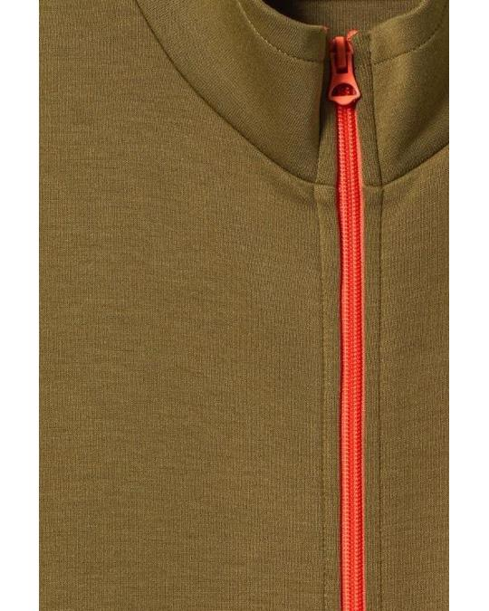Weekday Liee Zip Sweatshirt Green