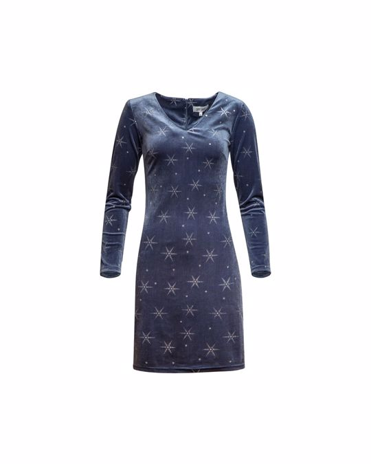 Dry Lake Holly Dress Blue Silver Stars
