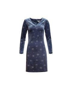 Holly Dress Blue Silver Stars