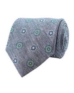 Flower Linen Tie