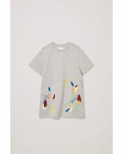 Printed Sweatshirt Dress Multicoloured