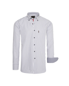 Cappuccino Italia Regular Fit Overhemd Wit Checked Wit