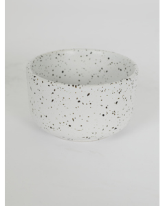 464482001-187 Dotty Stoneware Bowl White White