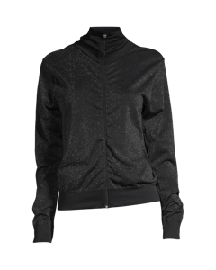 Casall Seamless Sparkle Jacket Black Sparkle