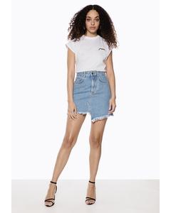 Capped Sleeve Ivy Tshirt White