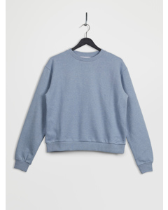 100% Recycled Crew Neck Sweatshirt Blue