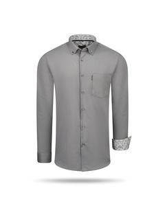 Cappuccino Italia Regular Fit Overhemd Antraciet Grau