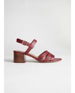 Hilaries sandaler med klack röd