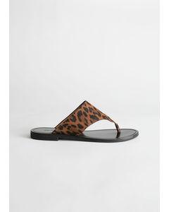 Svanfelt T-bar sandalen bruin