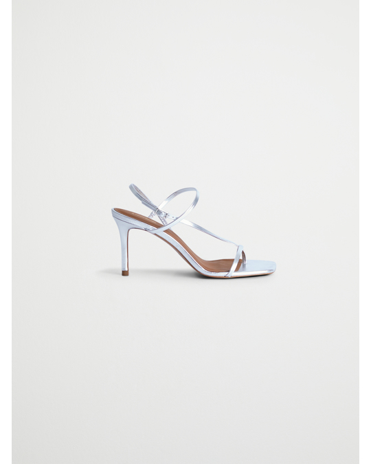& Other Stories Cross Strap Stiletto Sandals Silver