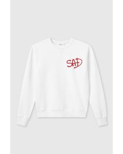 Flora Sweatshirt Bright White