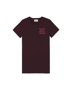 Eden T-shirt Burgundy