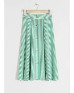 Rana vid midi-kjol grön