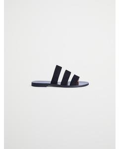 Villard suède sandaal zwart