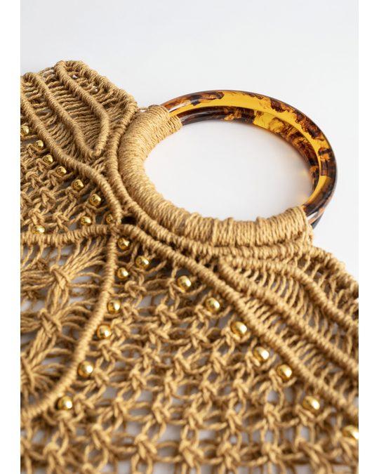 & Other Stories Oko kasse med runt handtag beige