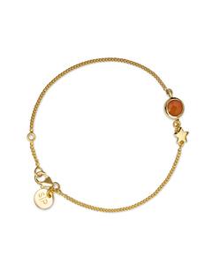 Priscilla Bracelet Gold  Carnelian
