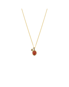 Priscilla Necklace Gold Carnelian