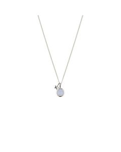 Priscilla Necklace Silver Blue Lace