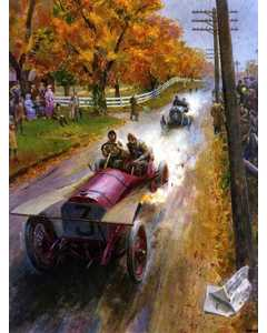 Vintage Race-cars,painting