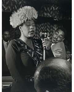 [portrait Of Ella Fitzgerald, Dizzy Gillespie, Ray Brown, Milt Jackson, And Timmie Rosenkrantz, Downbeat, New York, N.y., Ca. Sept. 1947]