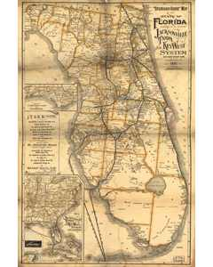 """standard Guide"" Map Of The State Of Florida.1891"