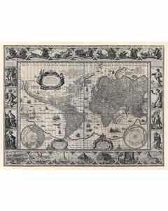 Map Blaeu, Willem Janszoon 1606