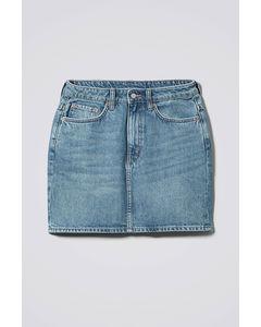 Wend Marble Blue Denim Skirt Blue