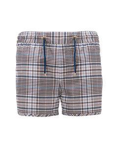 James Nylon Swim Shorts In Printed Check