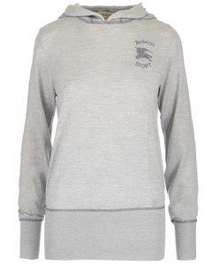 Grey Embroidered Hoodie Grey