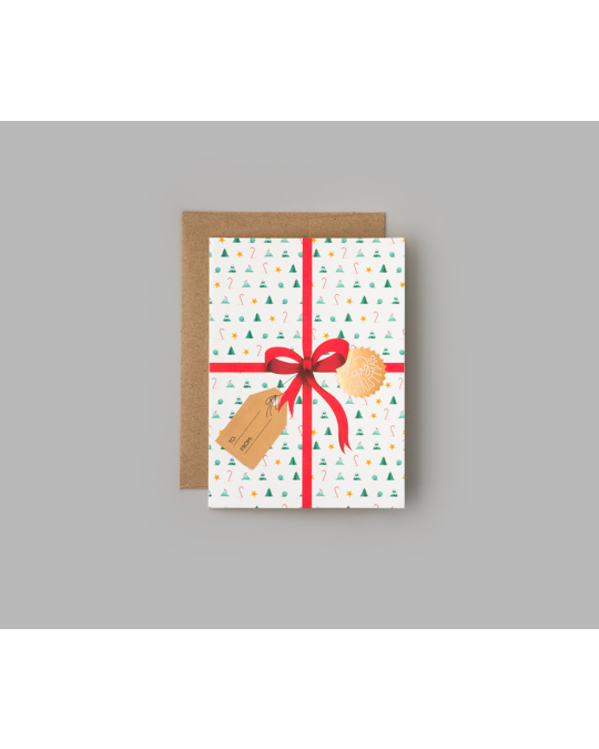 Printworks Merry Christmas - Double Cards With Envelope 6-pac White