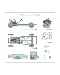 Ford B V8 1932 Drawing