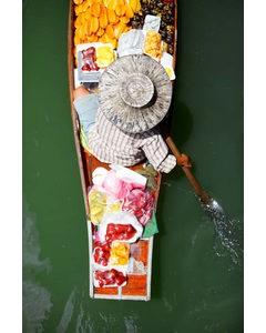 Asiatisk Kanot Med Grönsaker
