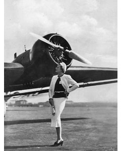 Vintage Airplane And Nicely Dressed Women