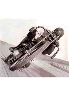 Motorcycle In Velodrome