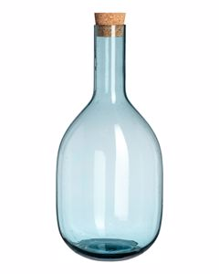 Bubble Hand Carafe  Blue