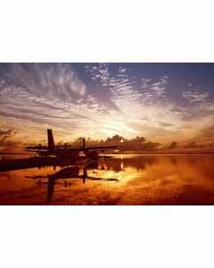 Seaplane In Sunset