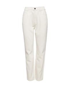 Denim High Waist Jeans Off White
