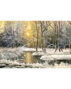 Llustration. Vinter I Skogen
